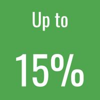 15% icon