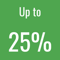 25% icon